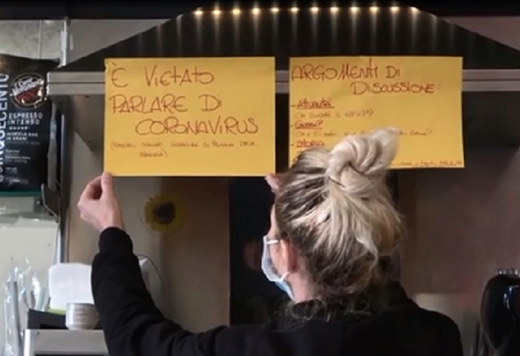 Restaurante em Roma não quer conversa sobre coronavírus